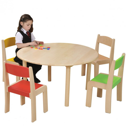 Round Beech Table in use