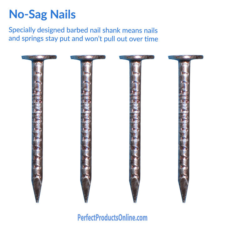 No-sag nails u2013 sold by the pound ...  sc 1 st  Upholstery Connection & No Sag Nails Zig Zag Nails Zig Zag Springs No-Sag Springs ...
