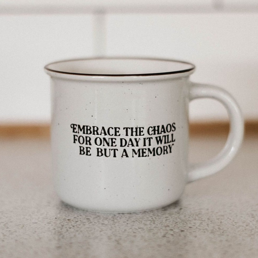 Embace the Chaos Speckle Mug