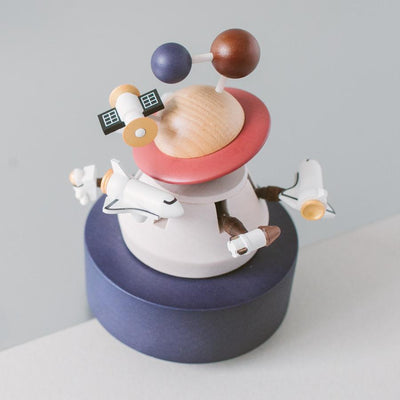 Outer Space Music Box - Wooderful Life - Age: Babies (0-1), Age: Big Kids (6-8), Age: Little Kids (3-5), Age: Toddlers (1-3), Age_Babies (0-1), Age_Big Kids (6-8), Age_Little Kids (3-5), Age_Toddlers (1-3), Busy Kids, Decor, For The Room, Gift Ideas, Journals & Keepsakes, meta- Babies (0-1), Music & Dance, Price Range: $100 - $150, To Play, Wooden Toys, Wooderful Life - Hugs For Kids
