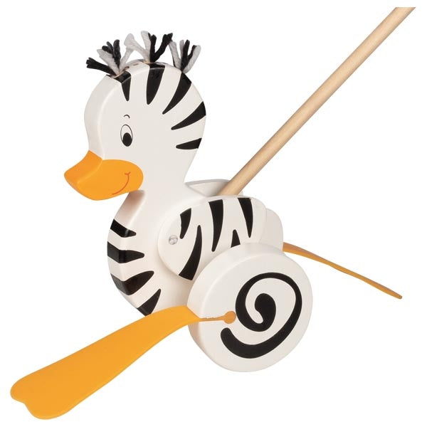 Zebra-Duck Push-along Animal