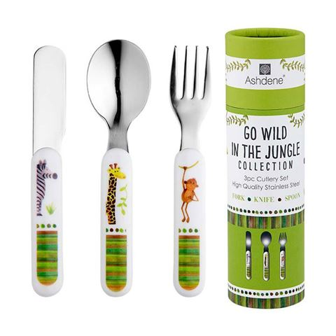 Go Wild 3pc Cutlery Set