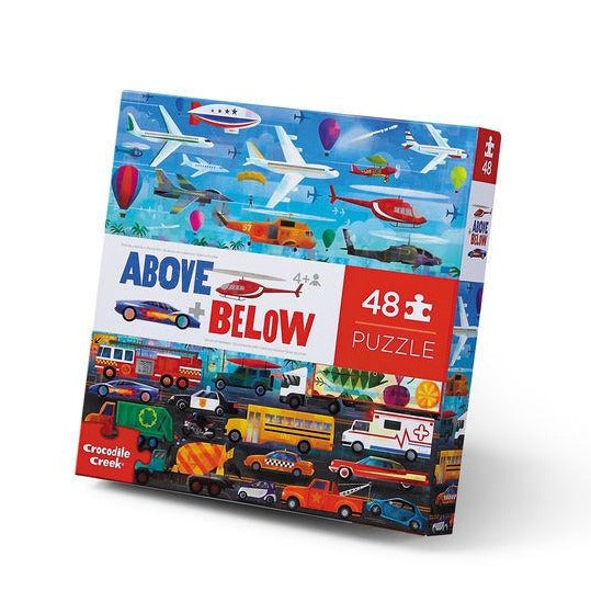 Above and Below Puzzle 48pc - Things that Go