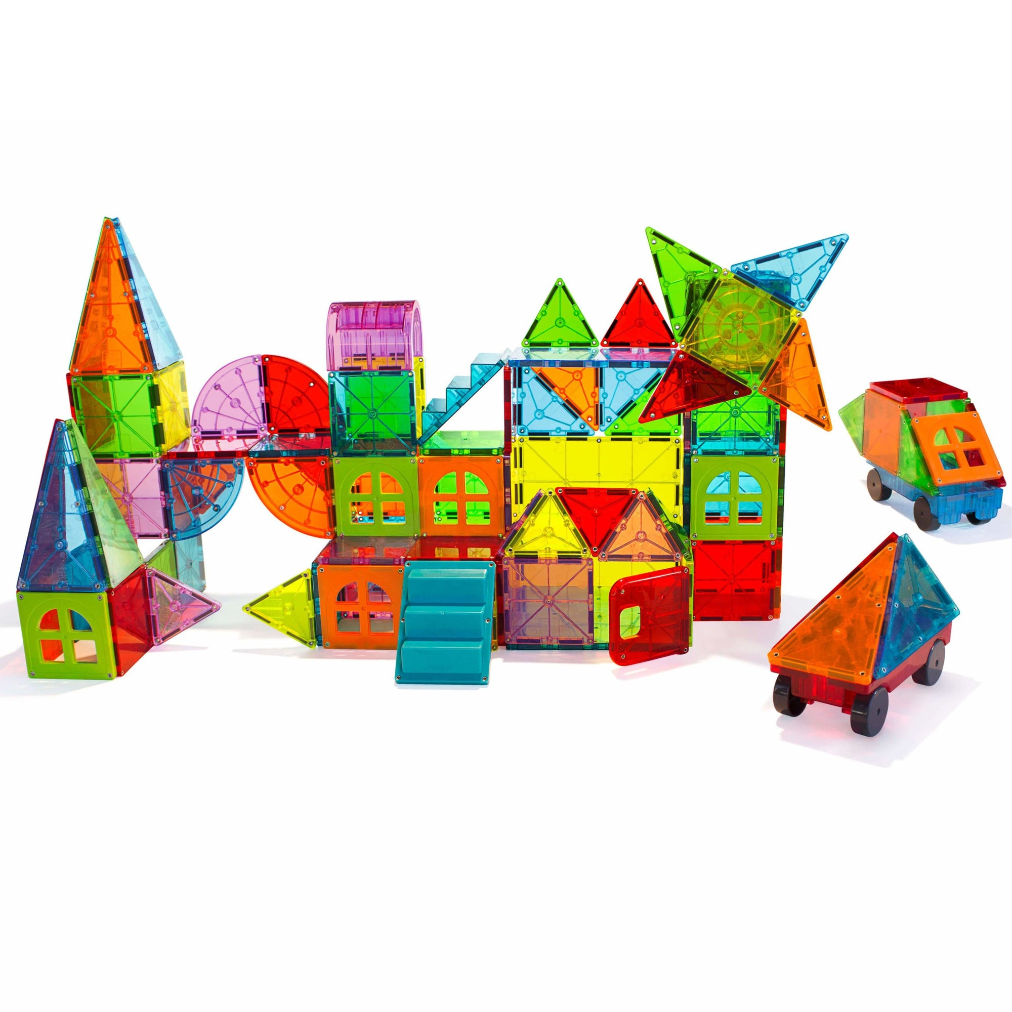 Metropolis 110pc MagnaTiles Set - MagnaTiles - Age: Big Kids (6-8), Age: Little Kids (3-5), Age: Older Kids (8+), Age_Big Kids (6-8), Age_Little Kids (3-5), Age_Older Kids (8+), Big Ticket Items, Busy Kids, Construction, Educational, Family Favourites, MagnaTiles, Price Range: $200 +, To Play - Hugs For Kids