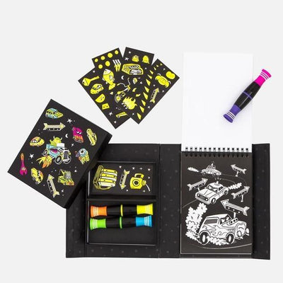 Neon Colouring - Road Stars - Tiger Tribe - Age: Big Kids (6-8), Age_Big Kids (6-8), Art & Crafts, Busy Kids, Gift Ideas, Price Range: $10 - $20, Price Range: $20 - $30, Tiger Tribe, To Play - Hugs For Kids