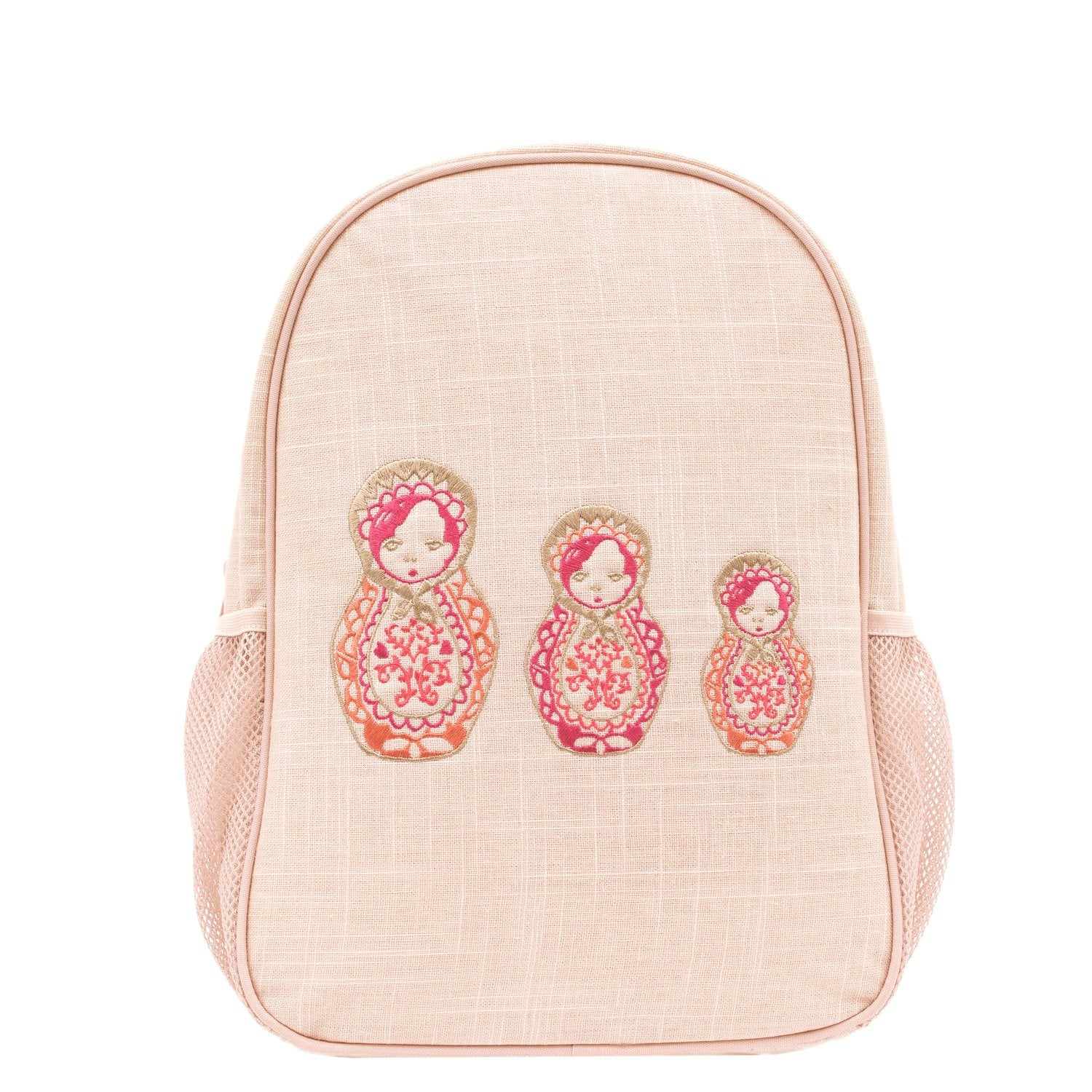 Embroidered Dolls Toddler Backpack