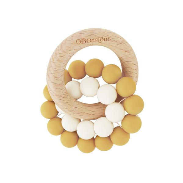 Tumeric Eco-Friendly Beechwood Silicone teether