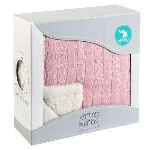 All4Ella For Baby Pink Knitted Blanket kids-children-mums-parenting-toyshop-fun kids-children-mums-parenting-toyshop-fun