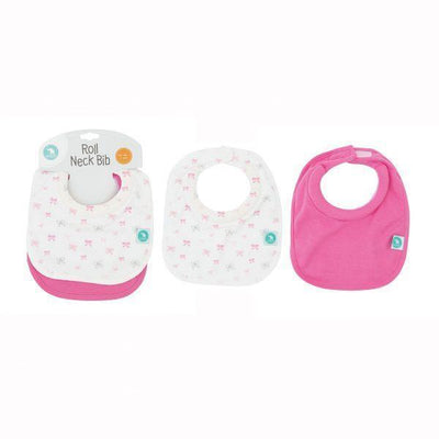 Roll Neck Bib 2pk - All4Ella - Hugs For Kids