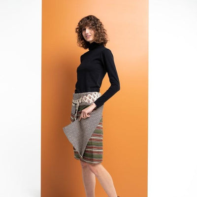 Adults Jaipur Stripe Rosanna Skirt - Boom Shankar - Hugs For Kids