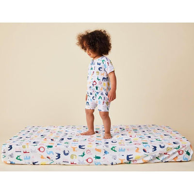 ABC Animals Fitted Sheet - Halcyon Nights - Hugs For Kids