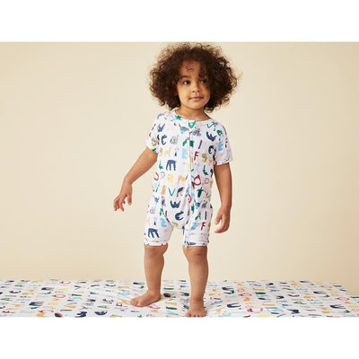 ABC Animals Summer Sleepersuit - Halcyon Nights - Hugs For Kids