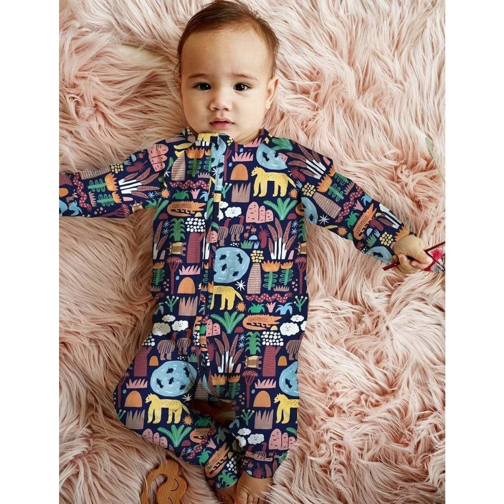 Kakadu LS Zip Suit - Halcyon Nights - Hugs For Kids