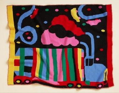 Lorries Knit Blanket - Halcyon Nights - Hugs For Kids