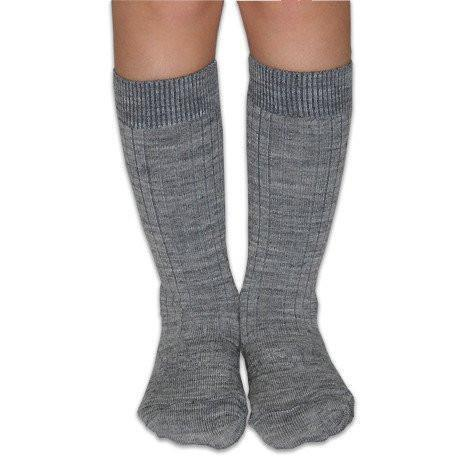 Merino Socks - Grey Rib - Lamington - Hugs For Kids
