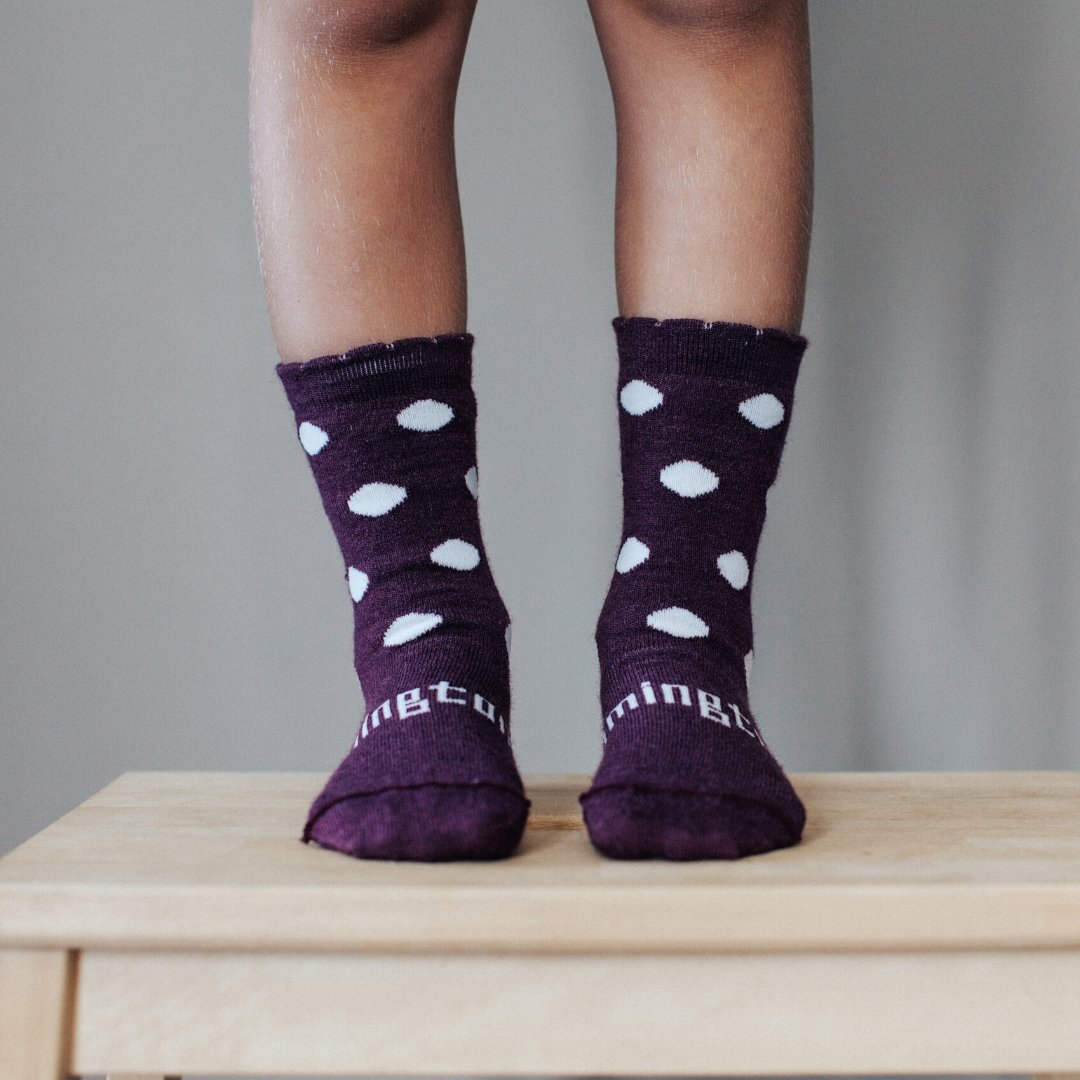 Merino Socks - Mulberry - Lamington - Hugs For Kids
