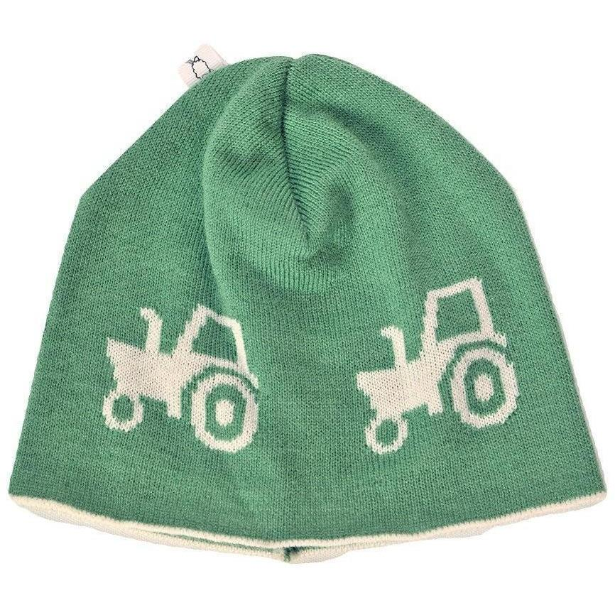 Green Tractor Merino Beanie - Leroy Mac - Hugs For Kids