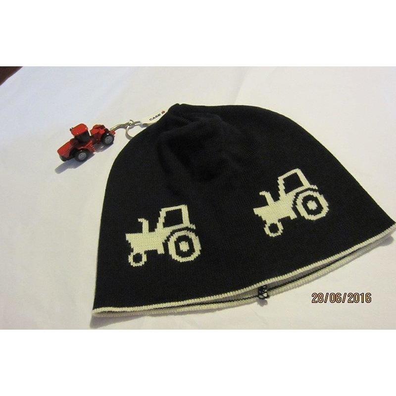 Navy Tractor Merino Beanie - Leroy Mac - Hugs For Kids