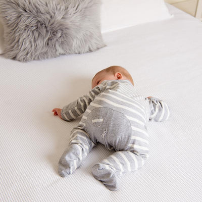 Grey Stripe Long Romper - Lil Zippers - Hugs For Kids