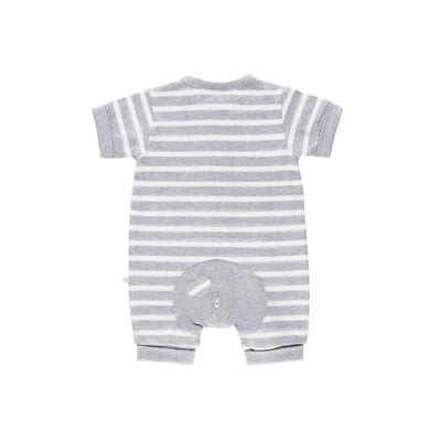 Grey Stripe Short Romper - Lil Zippers - Hugs For Kids