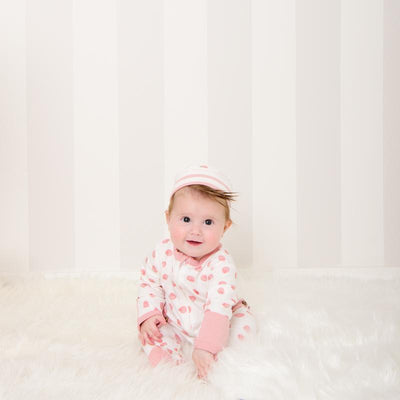 Pink Shell Long Romper - Lil Zippers - Hugs For Kids