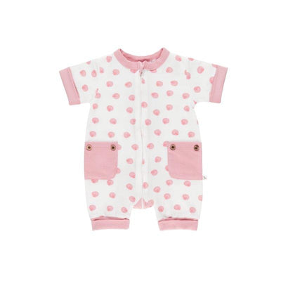 Pink Shell Short Romper - Lil Zippers - Hugs For Kids