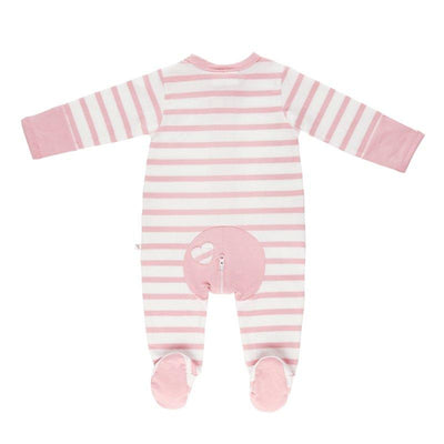 Pink Stripe Long Romper - Lil Zippers - Hugs For Kids
