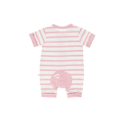 Pink Stripe Short Romper - Lil Zippers - Hugs For Kids