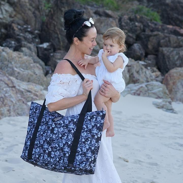 Beach Bag Midnight Floral - Little Renegade - Hugs For Kids