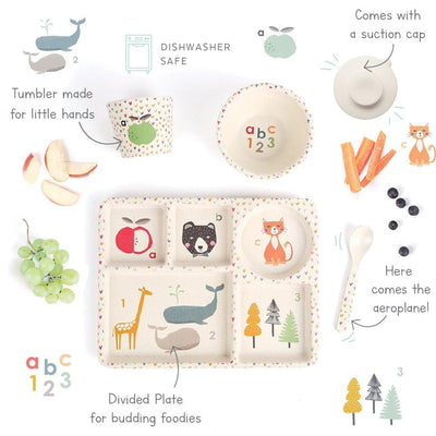 ABC Divided Plate Set - Love Mae - Hugs For Kids