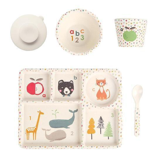 ABC Plant Based Divided Plate Set - Love Mae - Hugs For Kids