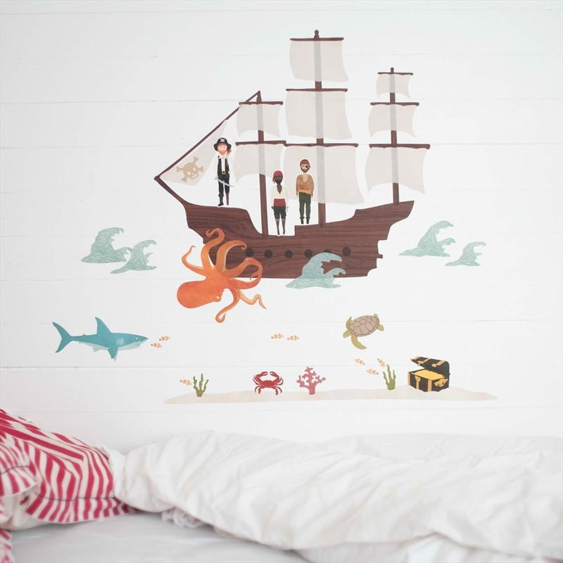 Love Mae For The Room Large Pirate Ship Decals kids-children-mums-parenting-toyshop-fun kids-children-mums-parenting-toyshop-fun