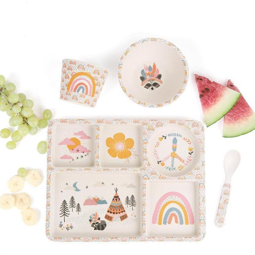 Gypsy Girl Plate Set - Love Mae - Hugs For Kids