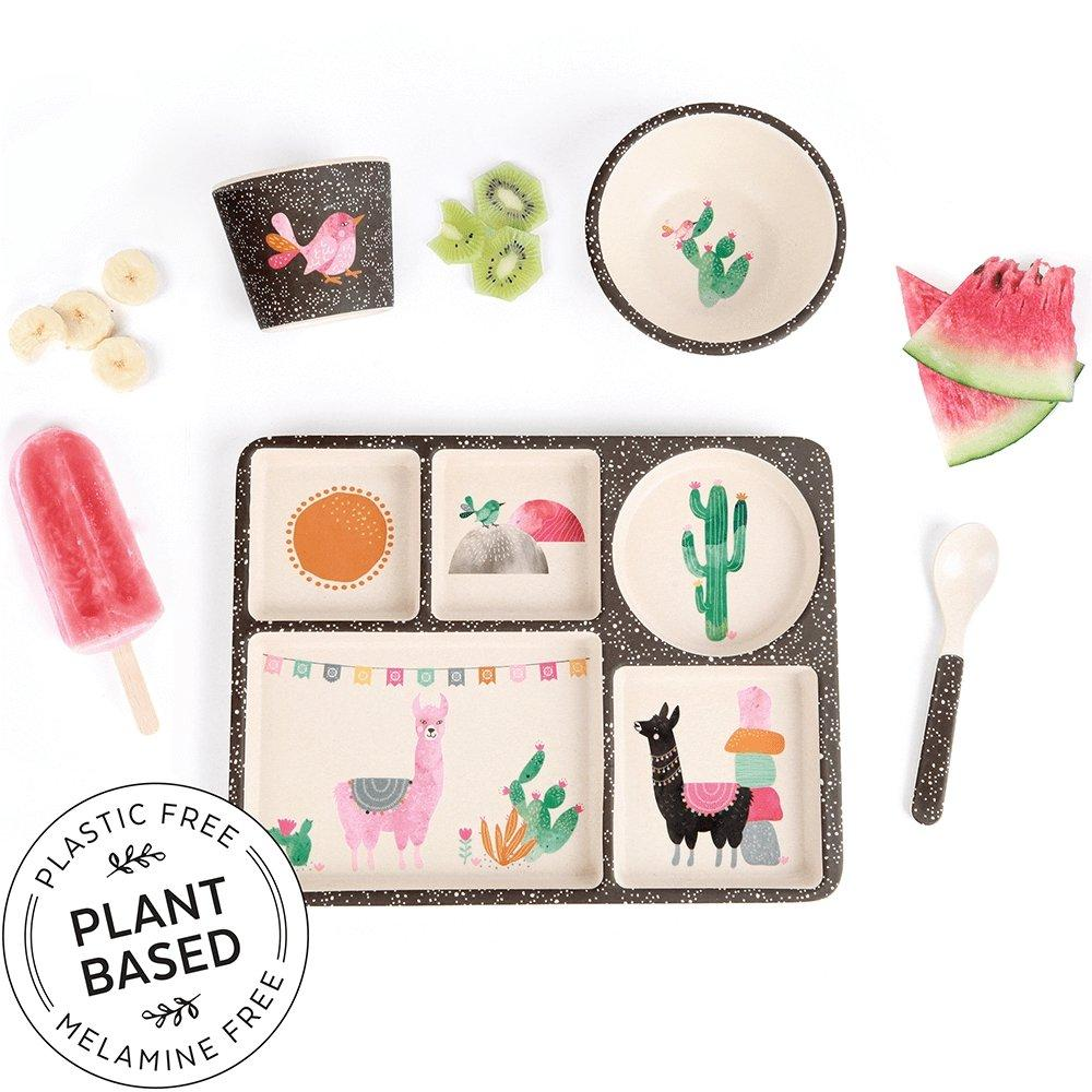 Llamarama Plant Based Divided Plate Set - Love Mae - Hugs For Kids