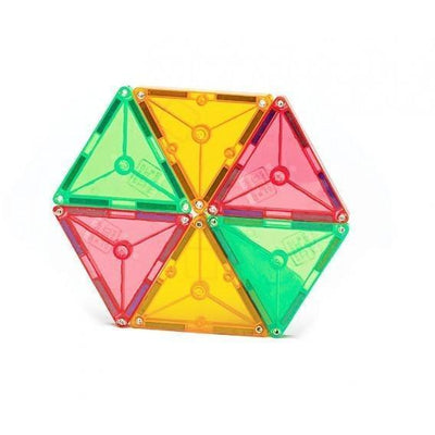 100 Piece Clear Colours Magna-Tiles - MagnaTiles - Hugs For Kids