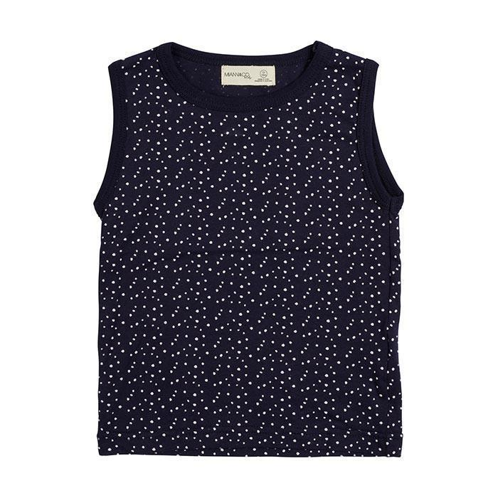 Miann and Co. Baby Clothes 0-3M Navy White Spot singlet kids-children-mums-parenting-toyshop-fun kids-children-mums-parenting-toyshop-fun
