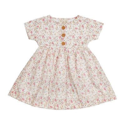 Floral S/S Dress - Miann and Co. - Hugs For Kids