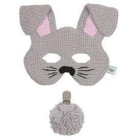 Kids Bunny Mask & Tail Set - Grey - Miann and Co. - Hugs For Kids
