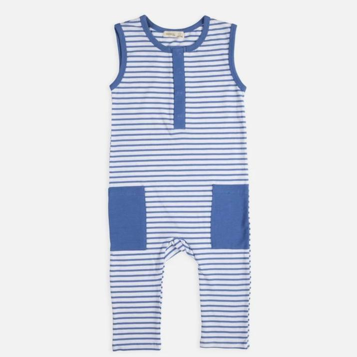 Ocean Stripe Sleeveless Suit - Miann and Co. - Hugs For Kids