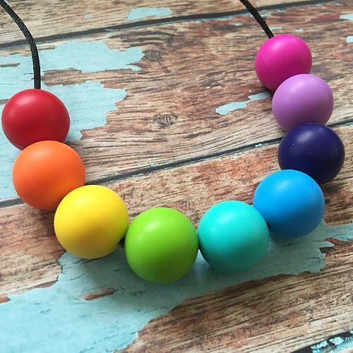 Rainbow Bright Necklace - Nature Bubz - Hugs For Kids