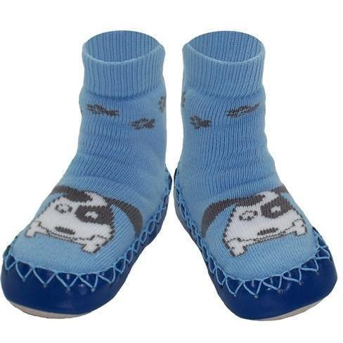 Swedish Moccasins - Blue Puppy - Nowali - Hugs For Kids