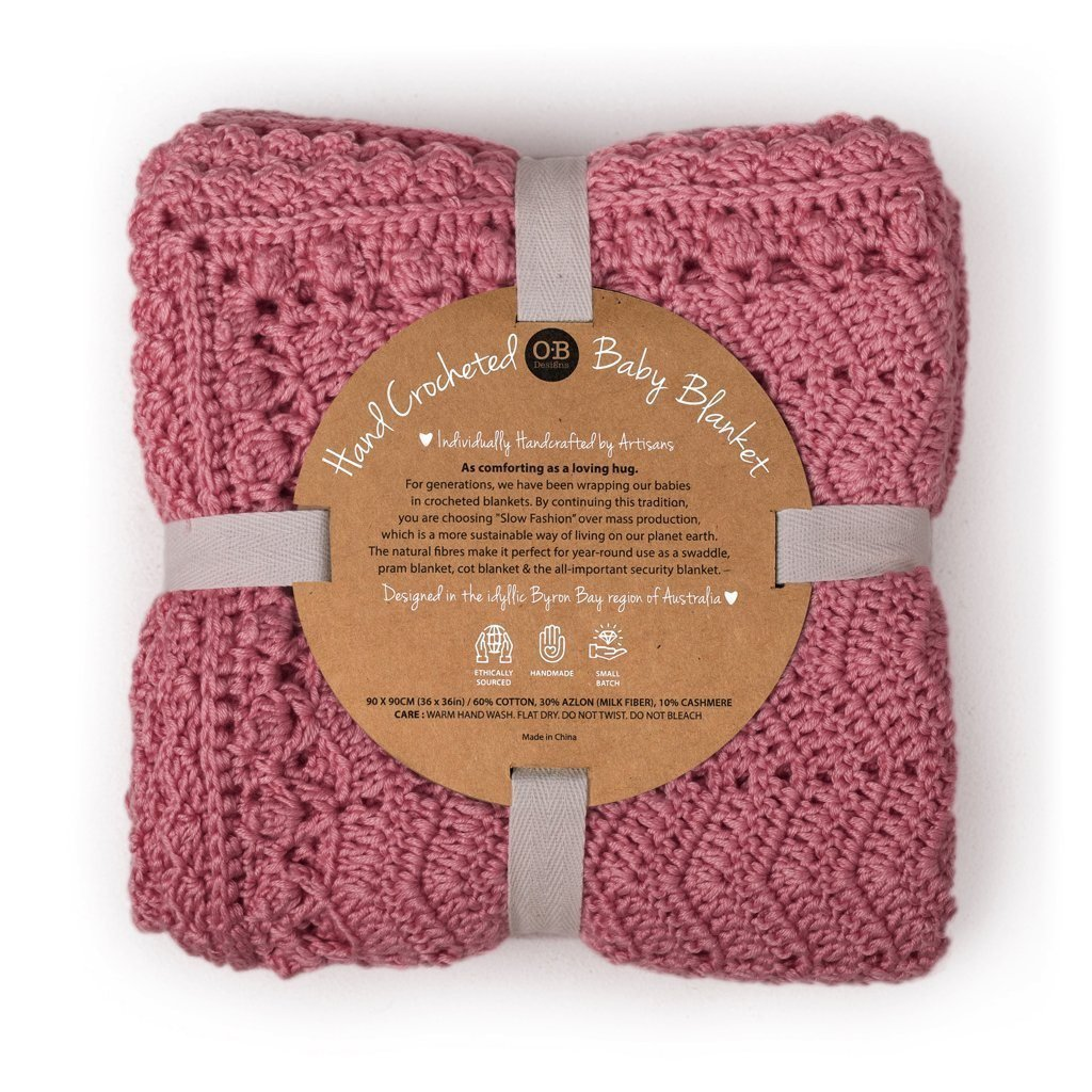 Blush Hand Crochet Blanket