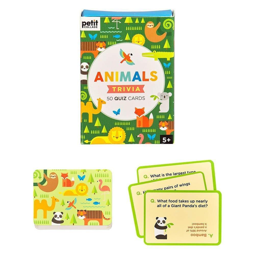 Animal Trivia Quiz Cards - Petit Collage - Hugs For Kids
