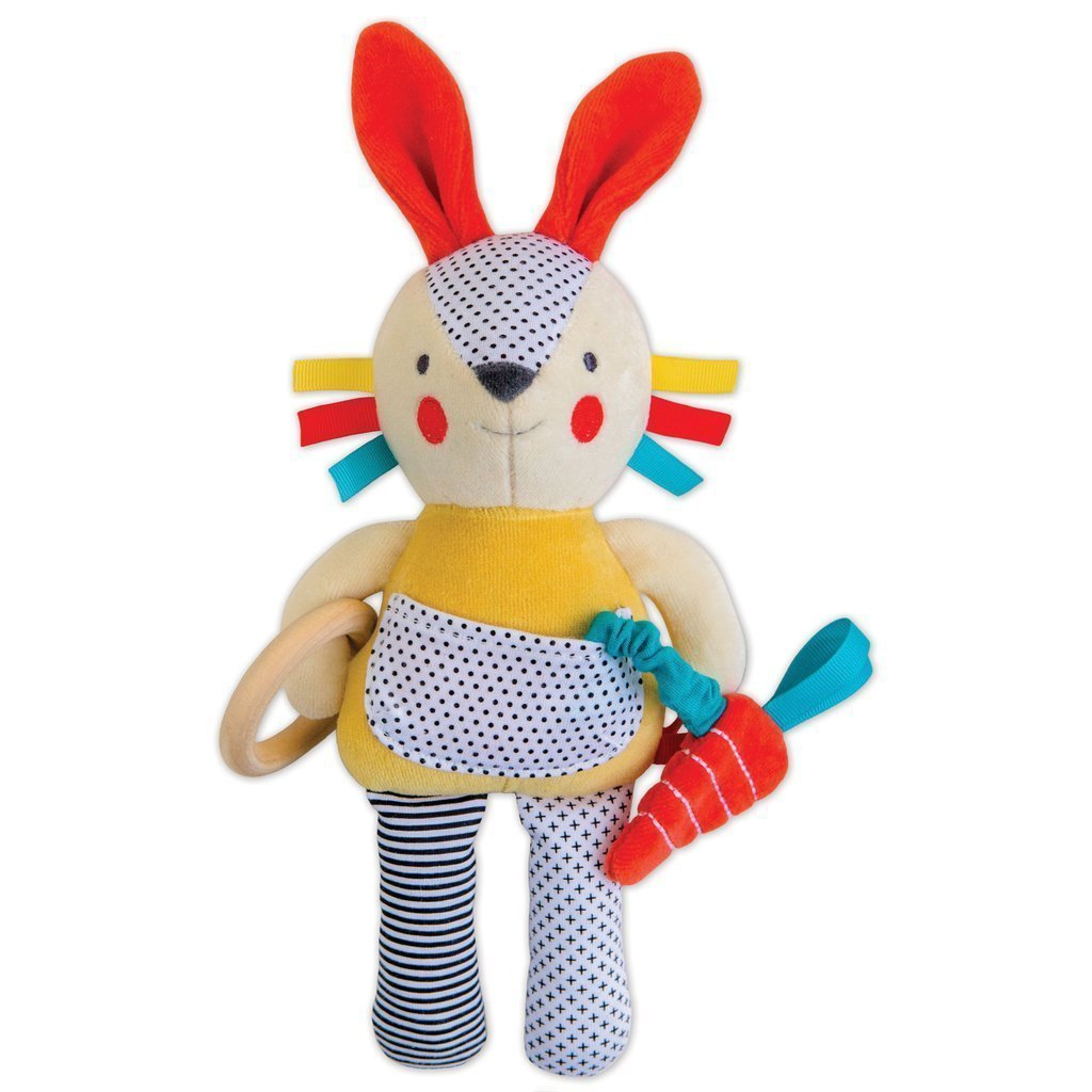 Developmental Soft Toy Bunny - Petit Collage - Hugs For Kids