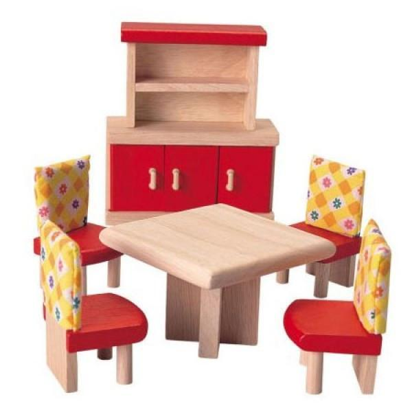 Plan Toys To Play Dolls Furniture - Dining Room kids-children-mums-parenting-toyshop-fun kids-children-mums-parenting-toyshop-fun