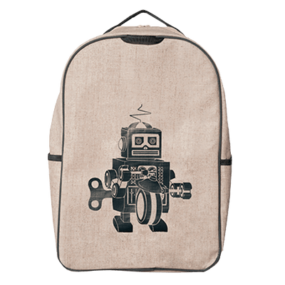 SoYoung To Eat Grey Robot School Backpack kids-children-mums-parenting-toyshop-fun kids-children-mums-parenting-toyshop-fun