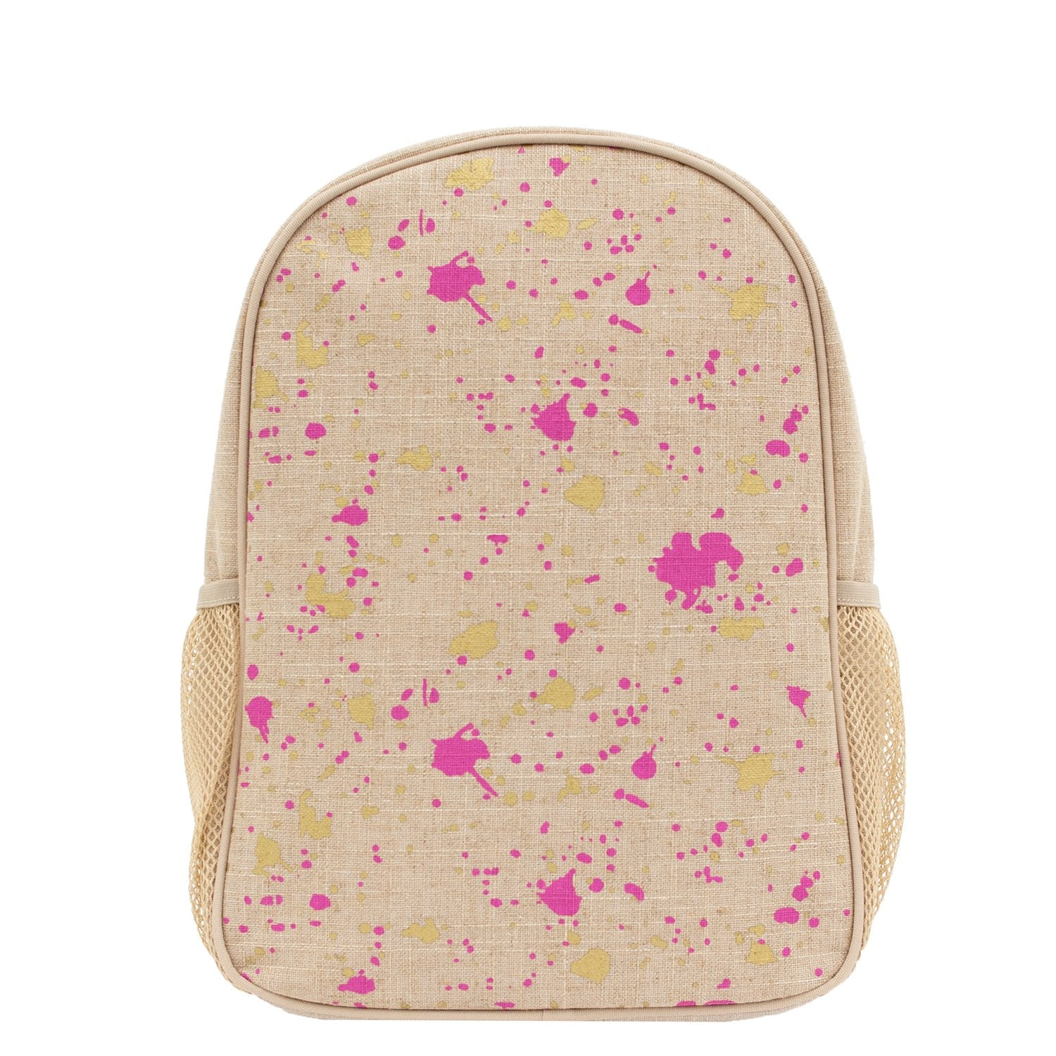 Fuchsia Gold Splatter Toddler Backpack