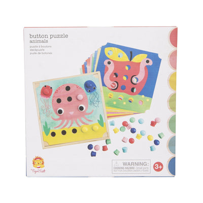 Animal Button Puzzle - Tiger Tribe - Hugs For Kids