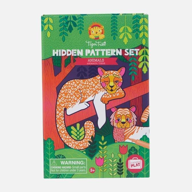 Animals Hidden Pattern Colouring - Tiger Tribe - Hugs For Kids