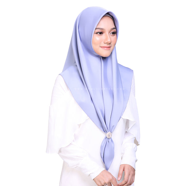 MUMU BAWAL SATIN IN DUSTY BLUE